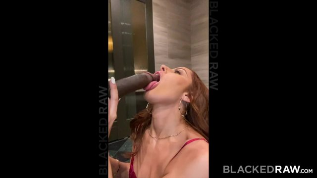 BLACKEDRAW Tight petite Brunette fucks huge BBC for her BF