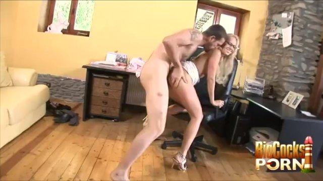 Secretary In Glasses Carla Cox Gets A Taste Of Big Cock