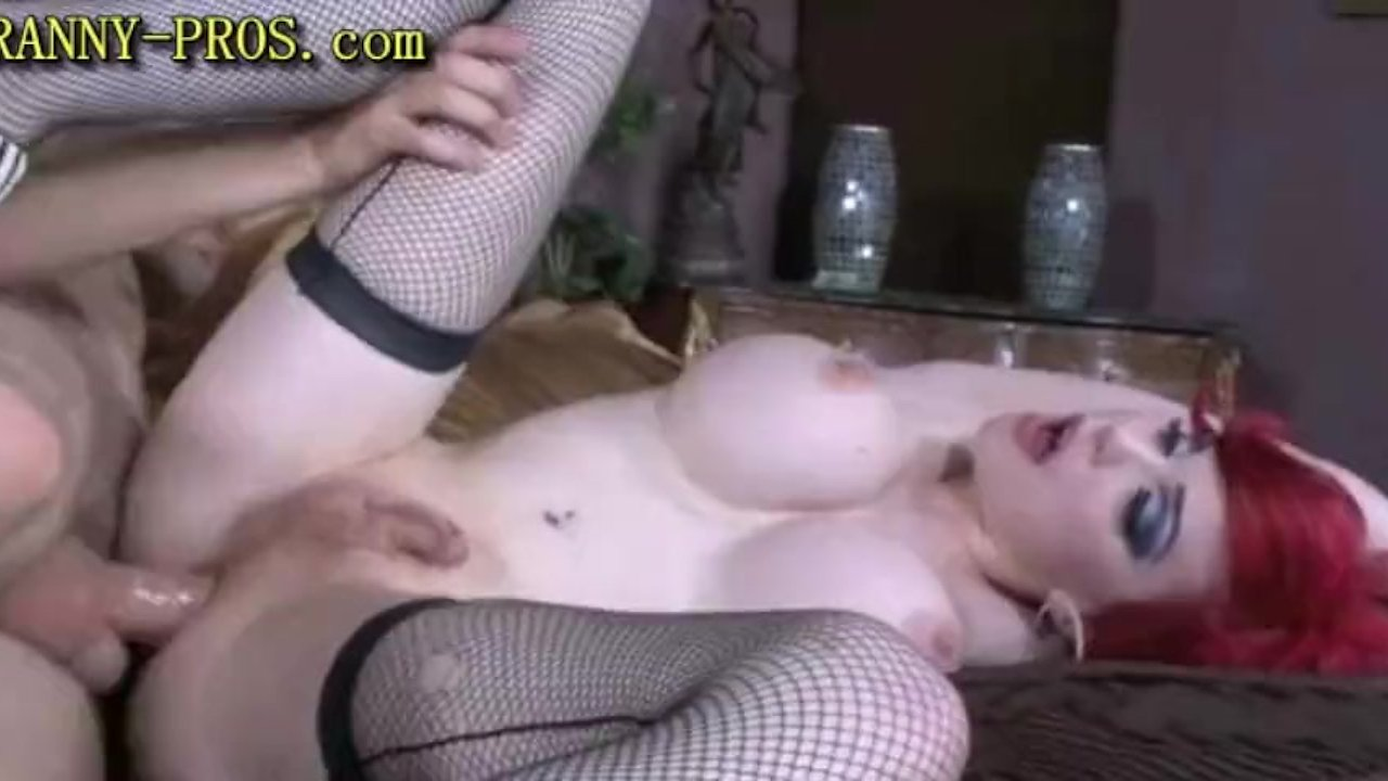 Redhead Tranny pounded From behind