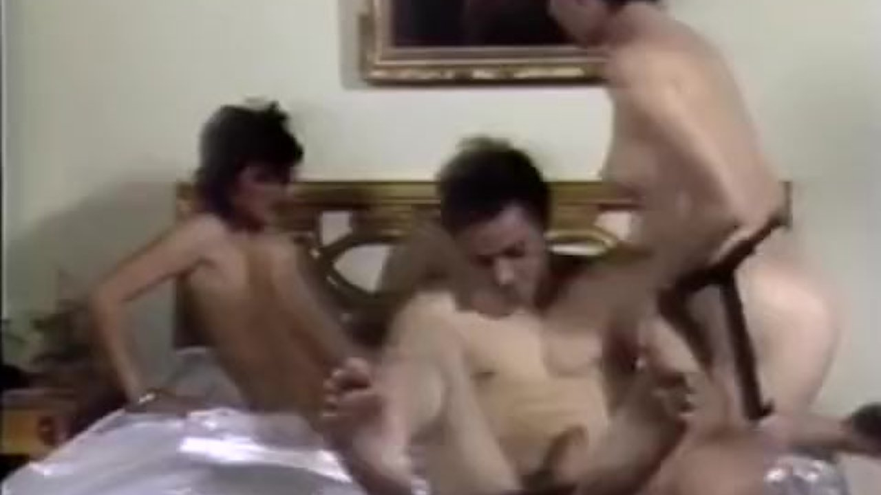 Guy joins lesbians in crazy fuck