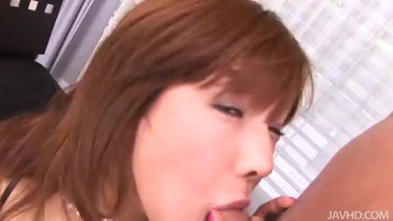 Two horny guys play with cute Serina Hayakawa