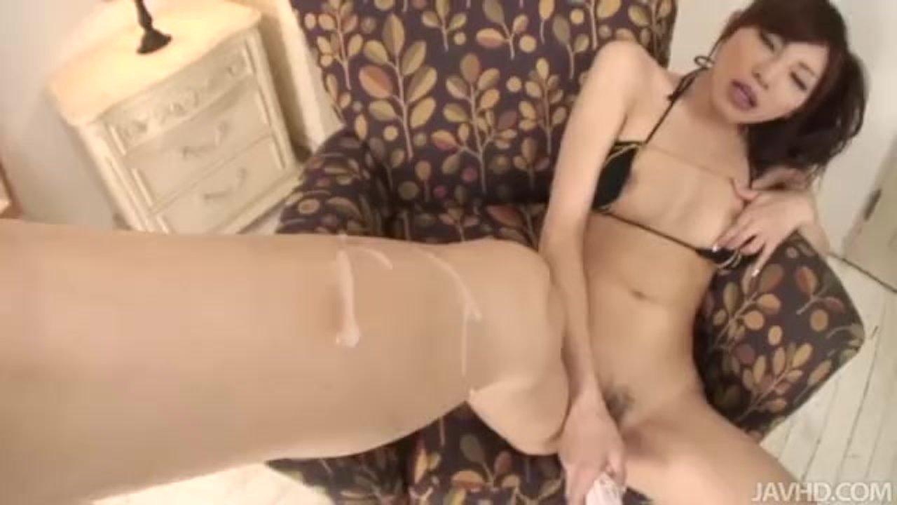 Kana Miura fingering her tight hole