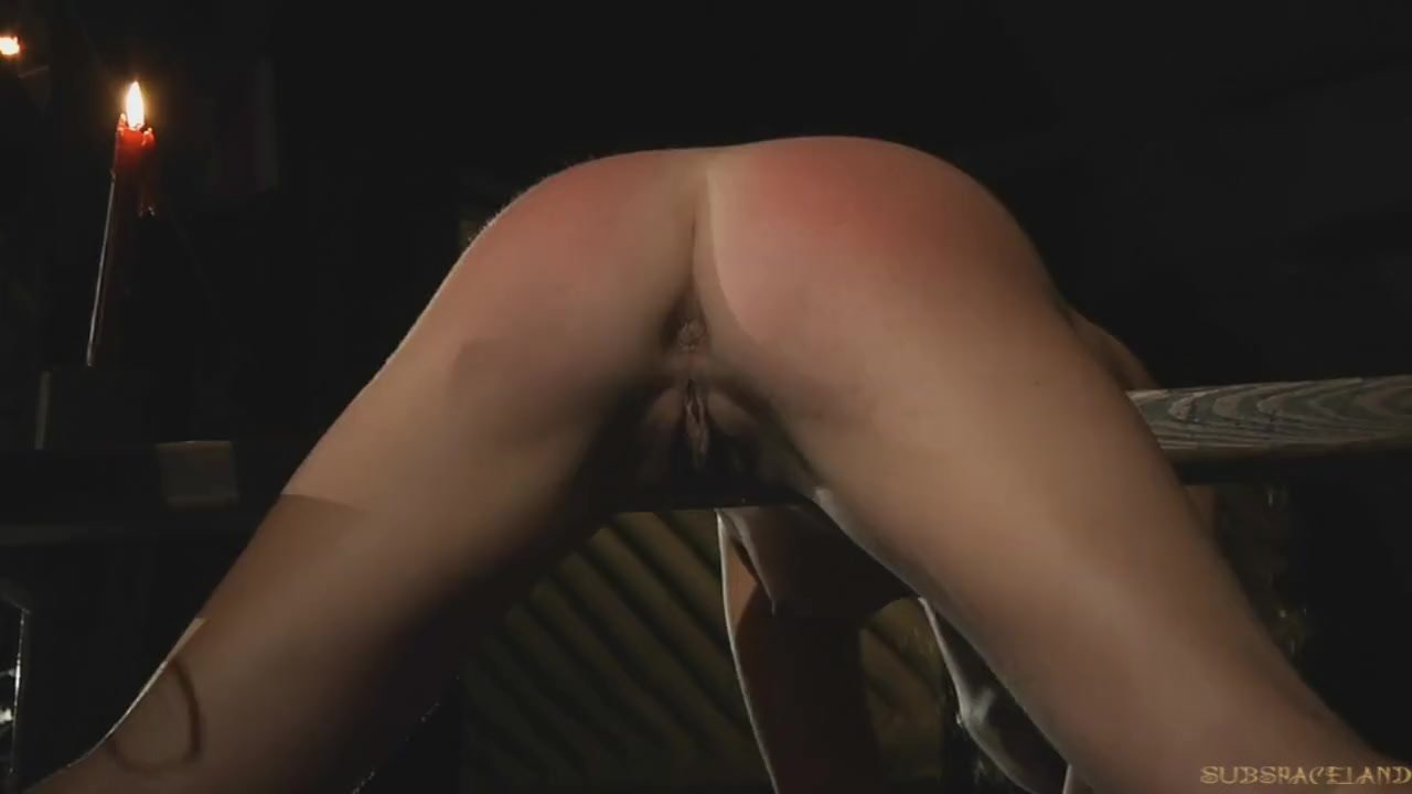 Ass drilling for the curly haired slave