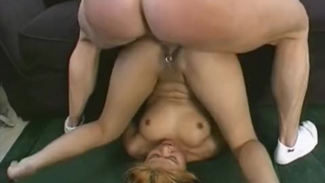 Anal sex in stockings and a garter