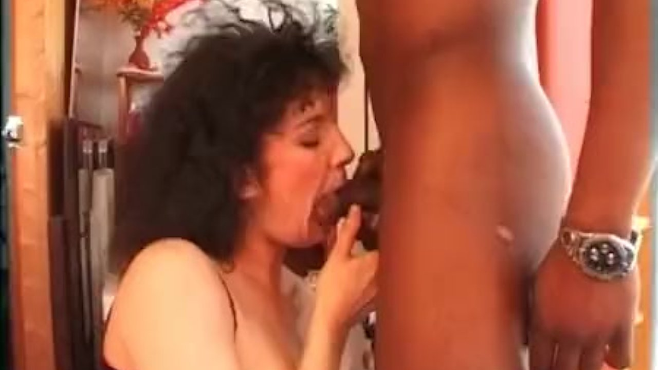 French brunette hard banged by a black