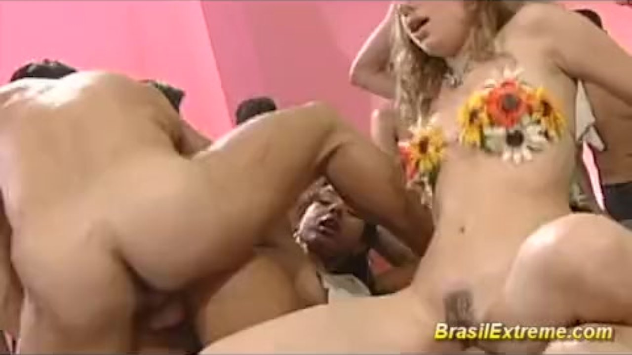 Crazy fucking party with brazilian