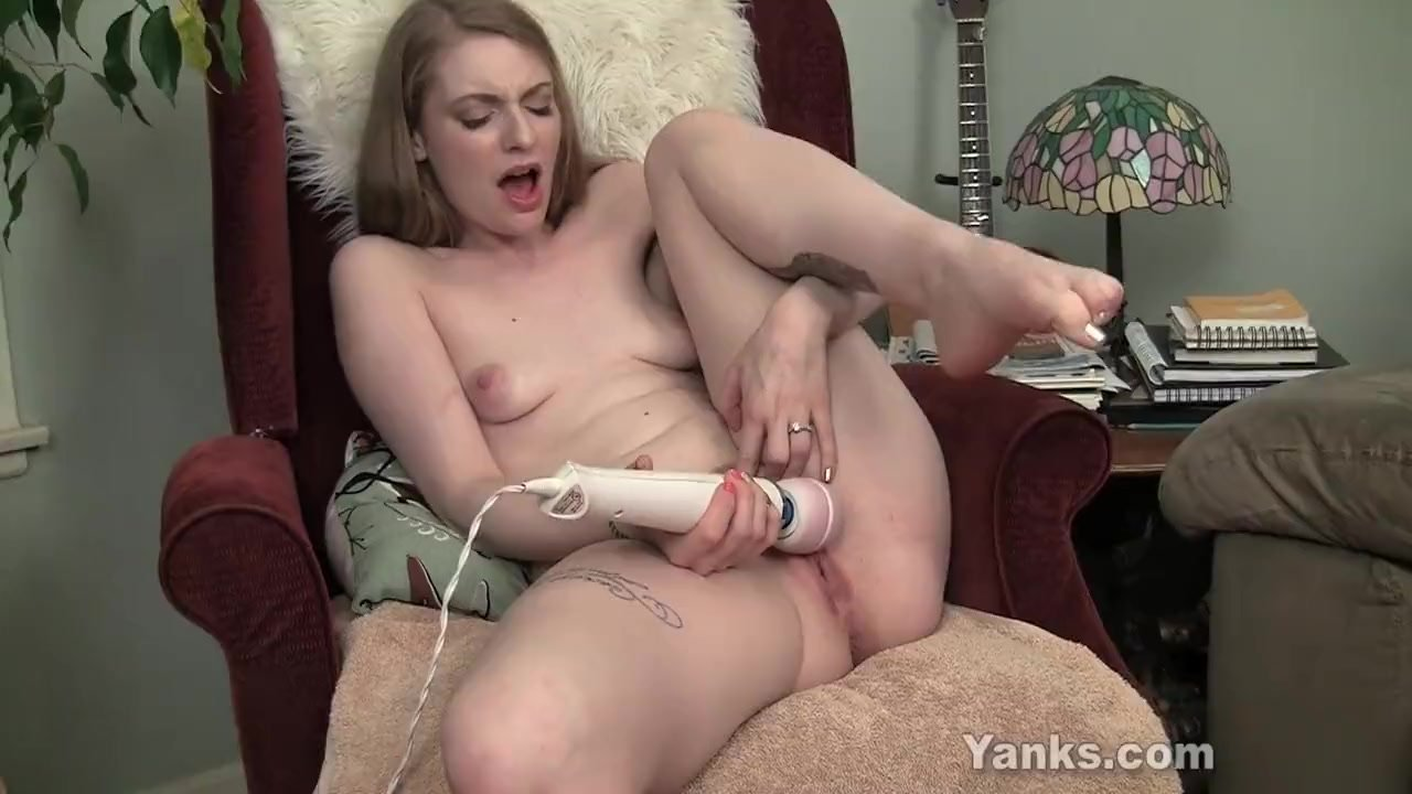 Remote control vibrator and three orgasms in a row for a tied girl