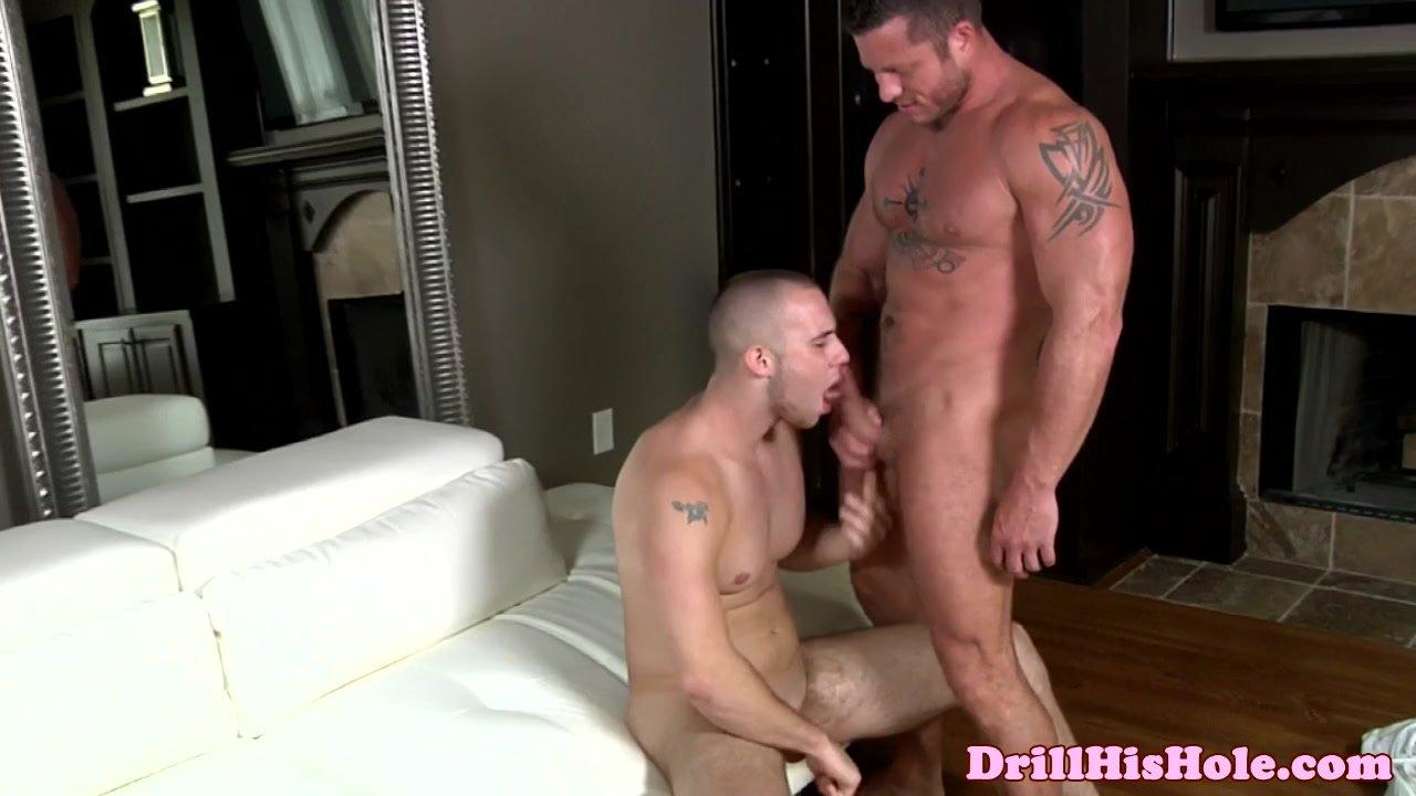 Gay hunks giving blowjob
