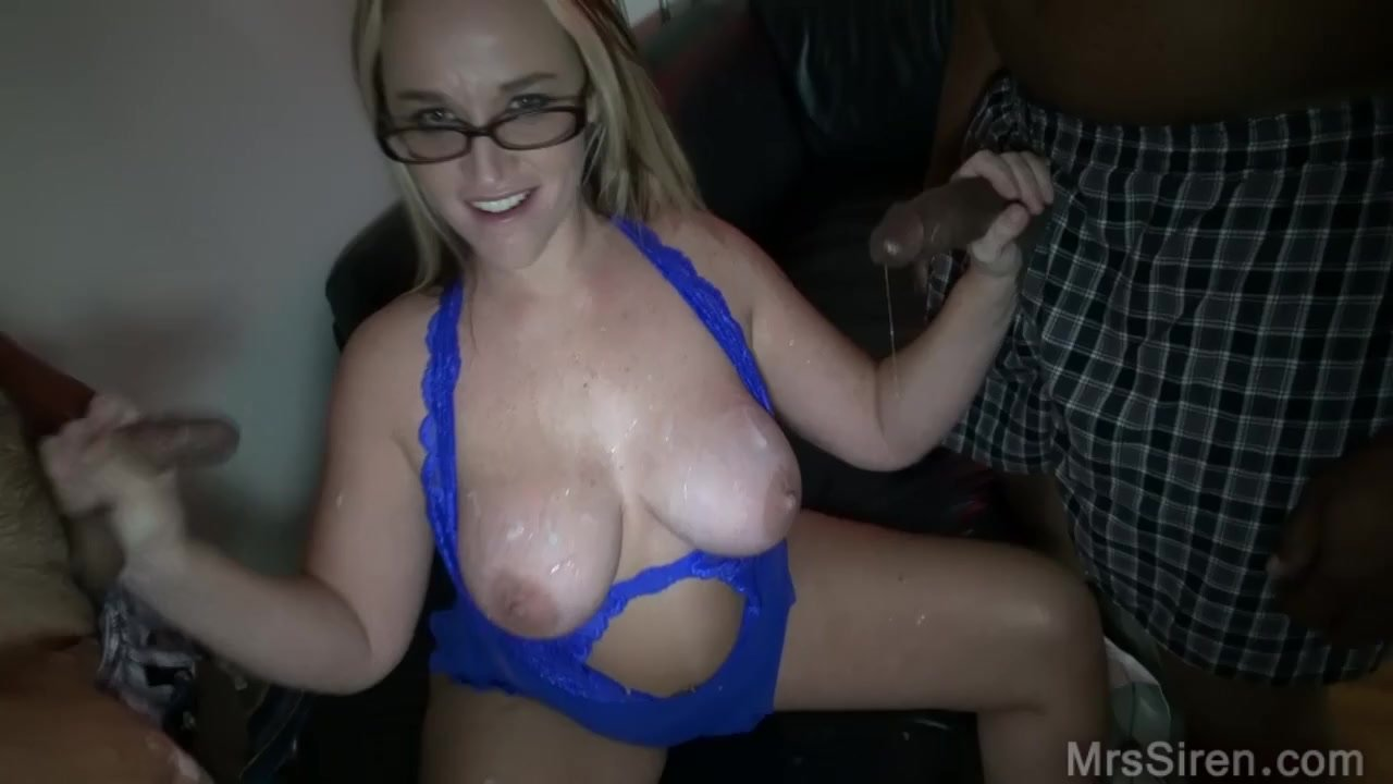 Two Blondes enjoy several black cocks