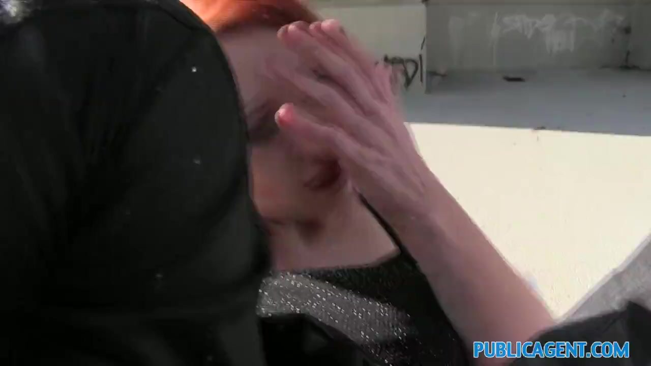 PublicAgent Sexy ginger babe fucks outside