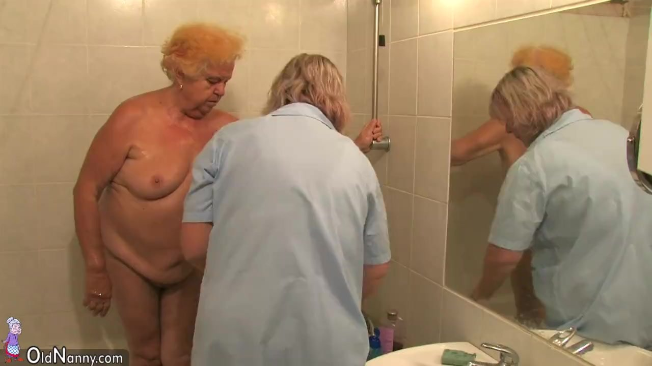 OldNanny Hot amateur mature showers old chubb