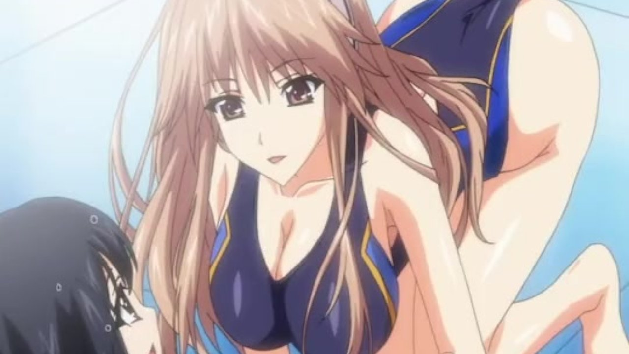 Anime Girl Sucking Penis hentai cutie in swimsuit gives tittyfuck