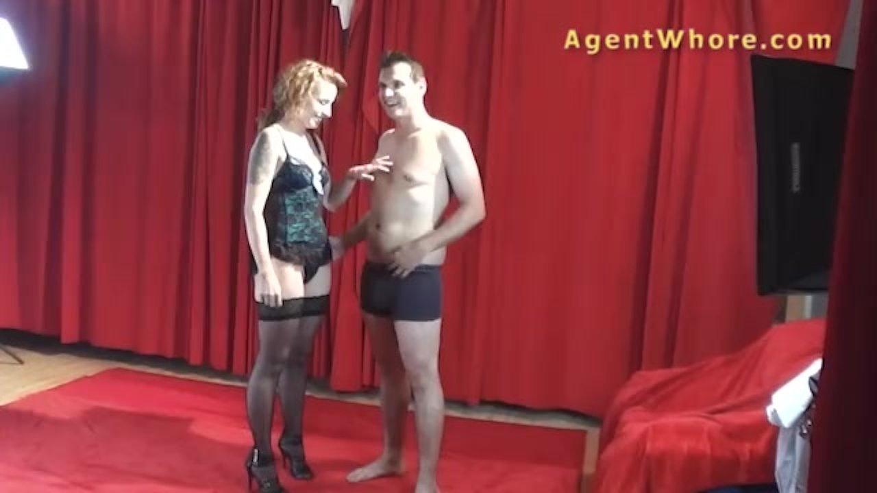 Agent Whore young man gets bj and handjob from redhead