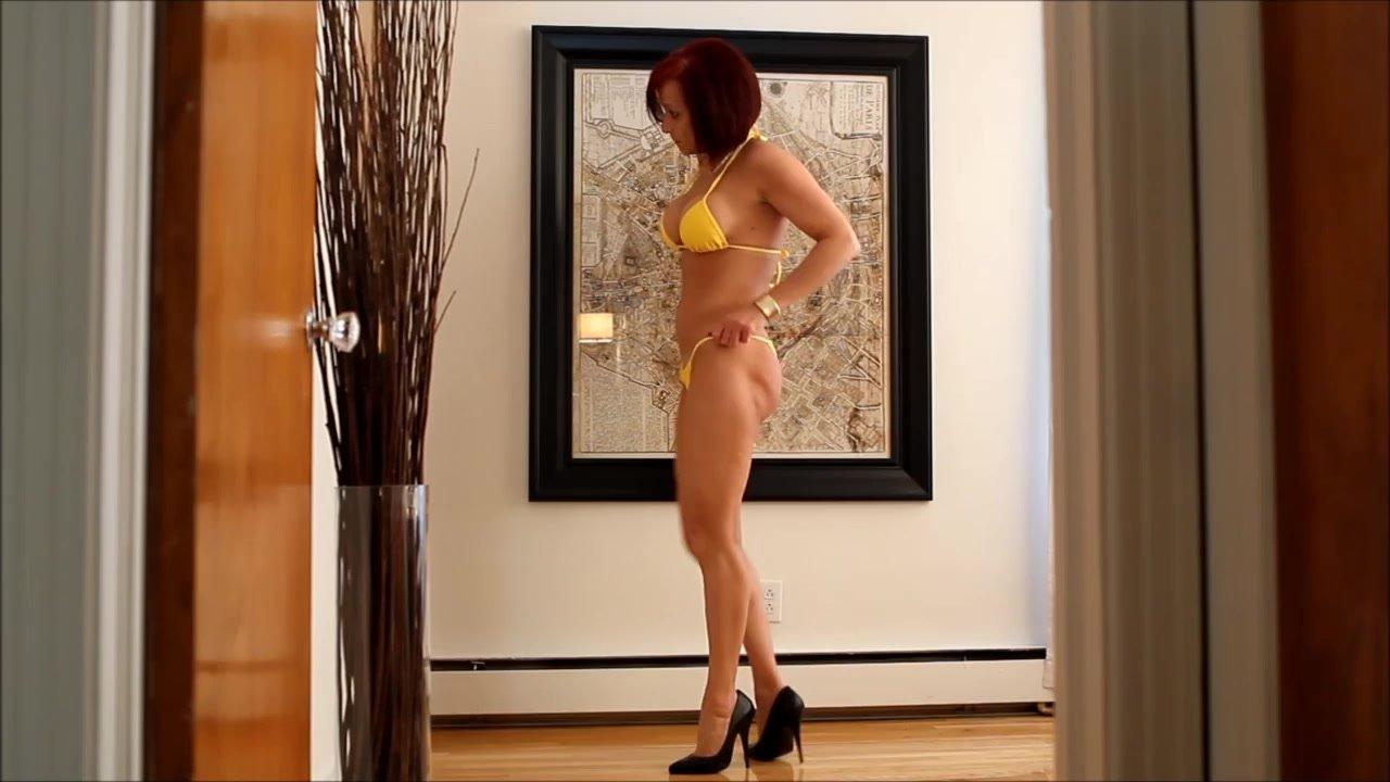 Audrey testing new bikini