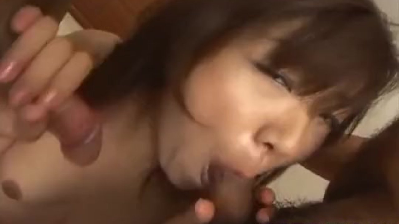 Mitsu Anno gets cum on face from sucked tools