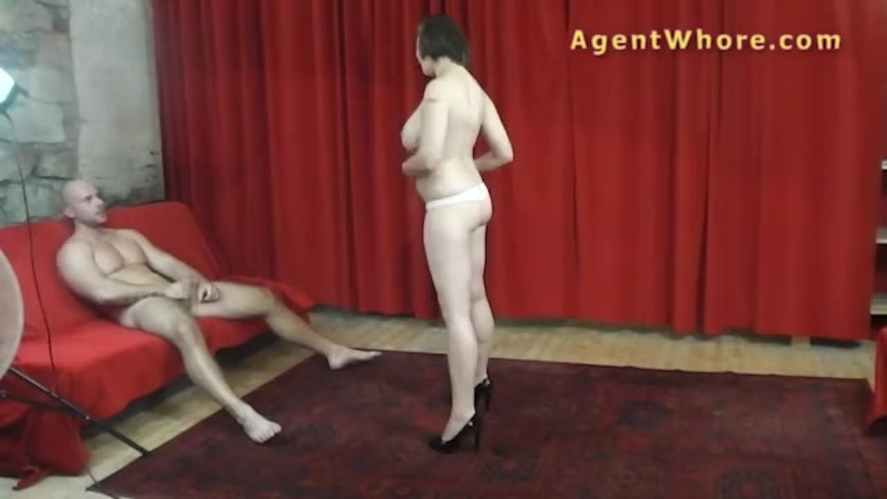 Agent Whore casting guy gets hanjob from busty milf