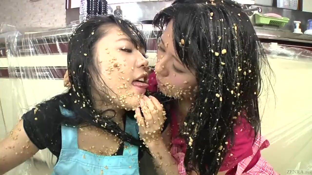 Subtitled extreme Japan natto sploshing