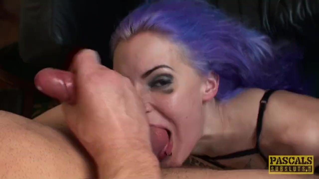 Facefucked british slut fingerfucked rough