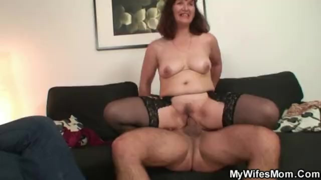 Watching her older mother riding his cock