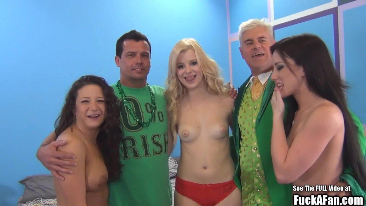 Sperm Swapping Hot Titty Blonde Fuck a Fan Blonde