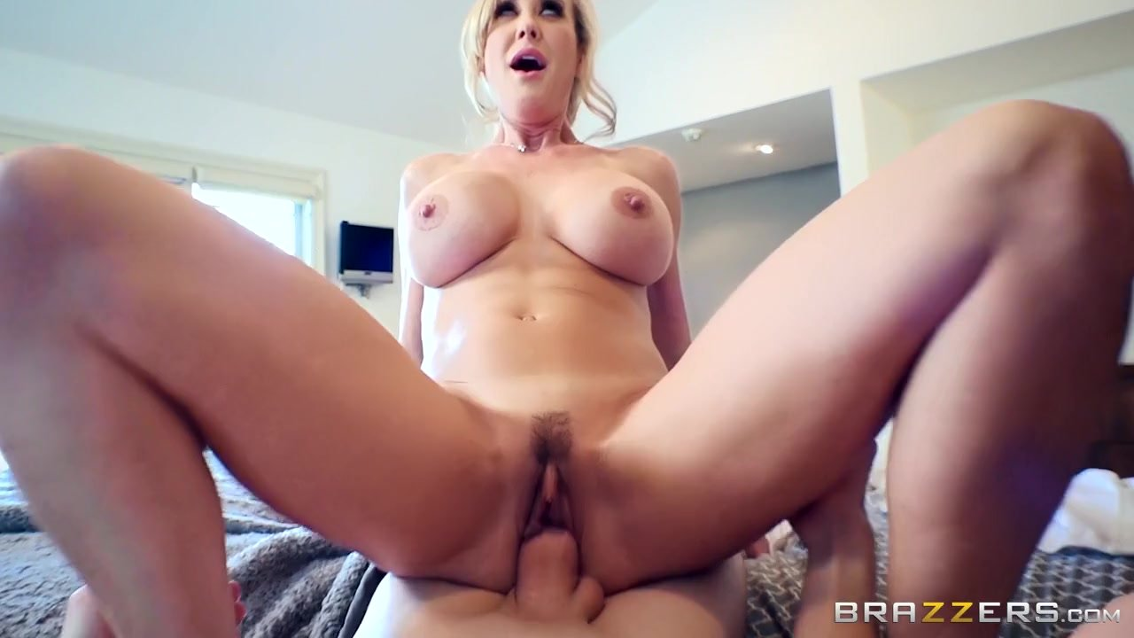 Award Winning Milf Julia Ann Foot Fucks A Hard Slave Cock!