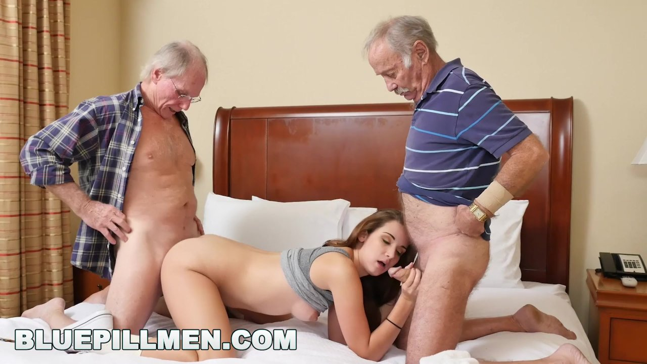 Old Men Bisexual Threesome
