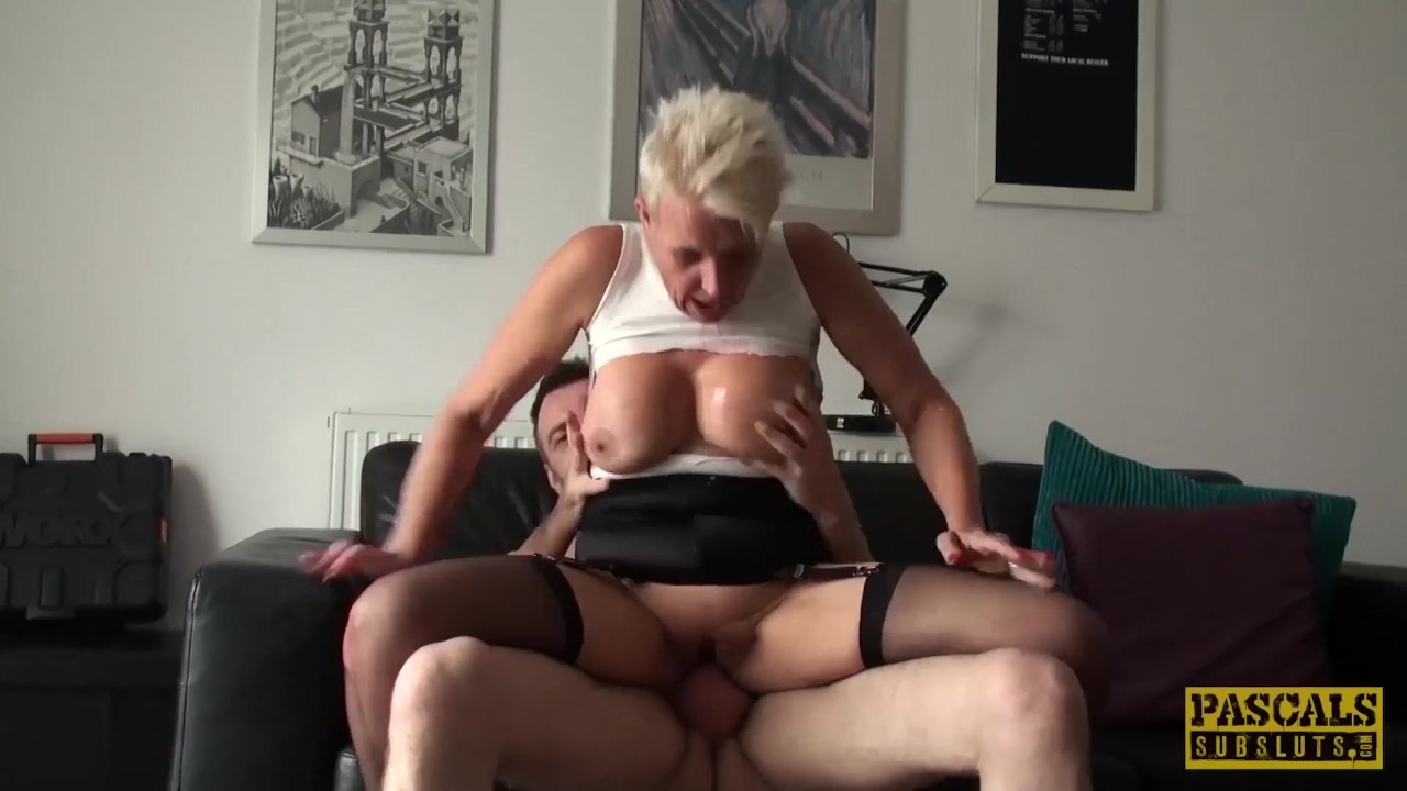 Mature subslut deepthroated and fucked