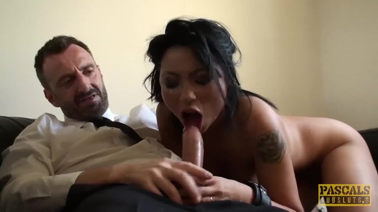 British whore punished and fed with cum