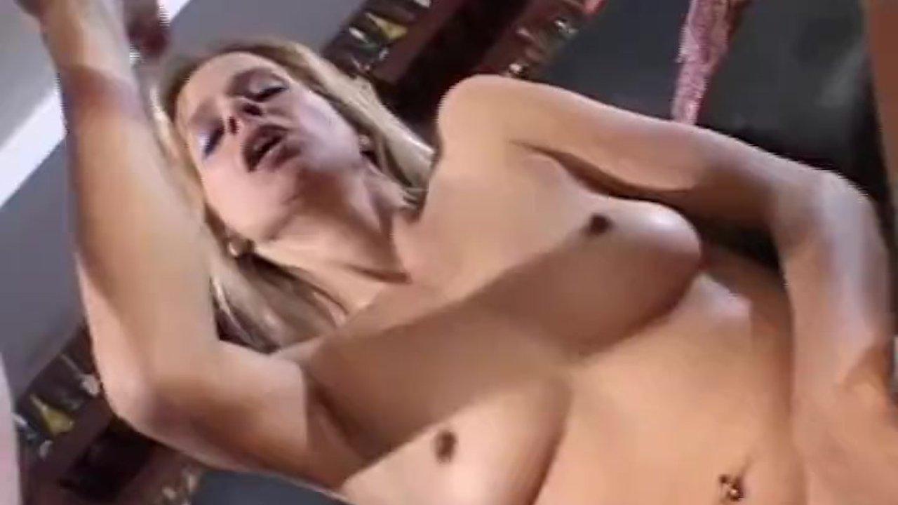 naughty hot blonde sucks femdom dick