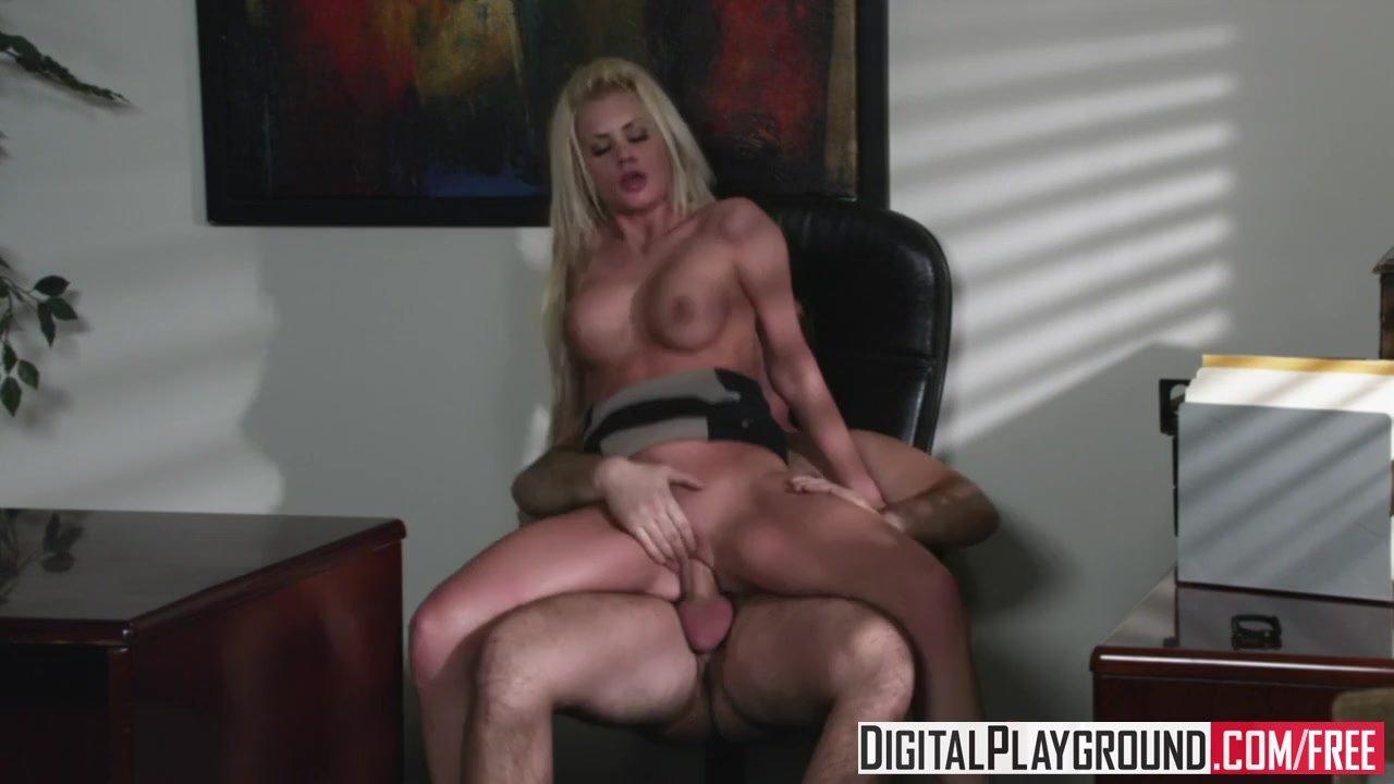 Digital Playground - Riley Steele rides her bosses dick