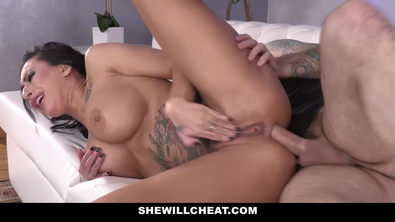 SheWillCheat - Slut Wife Ass Fucked by Friend