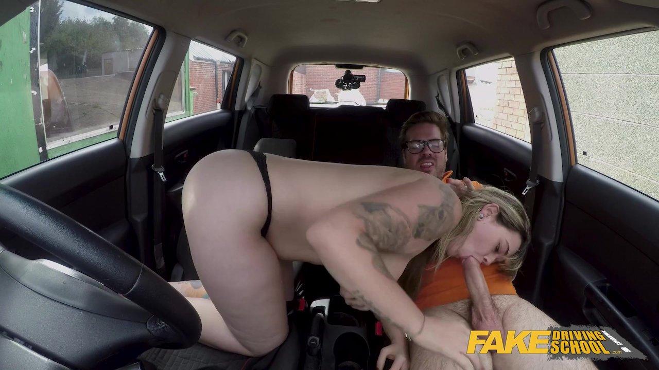 Fake Driving School Massive British boobs one last lesson