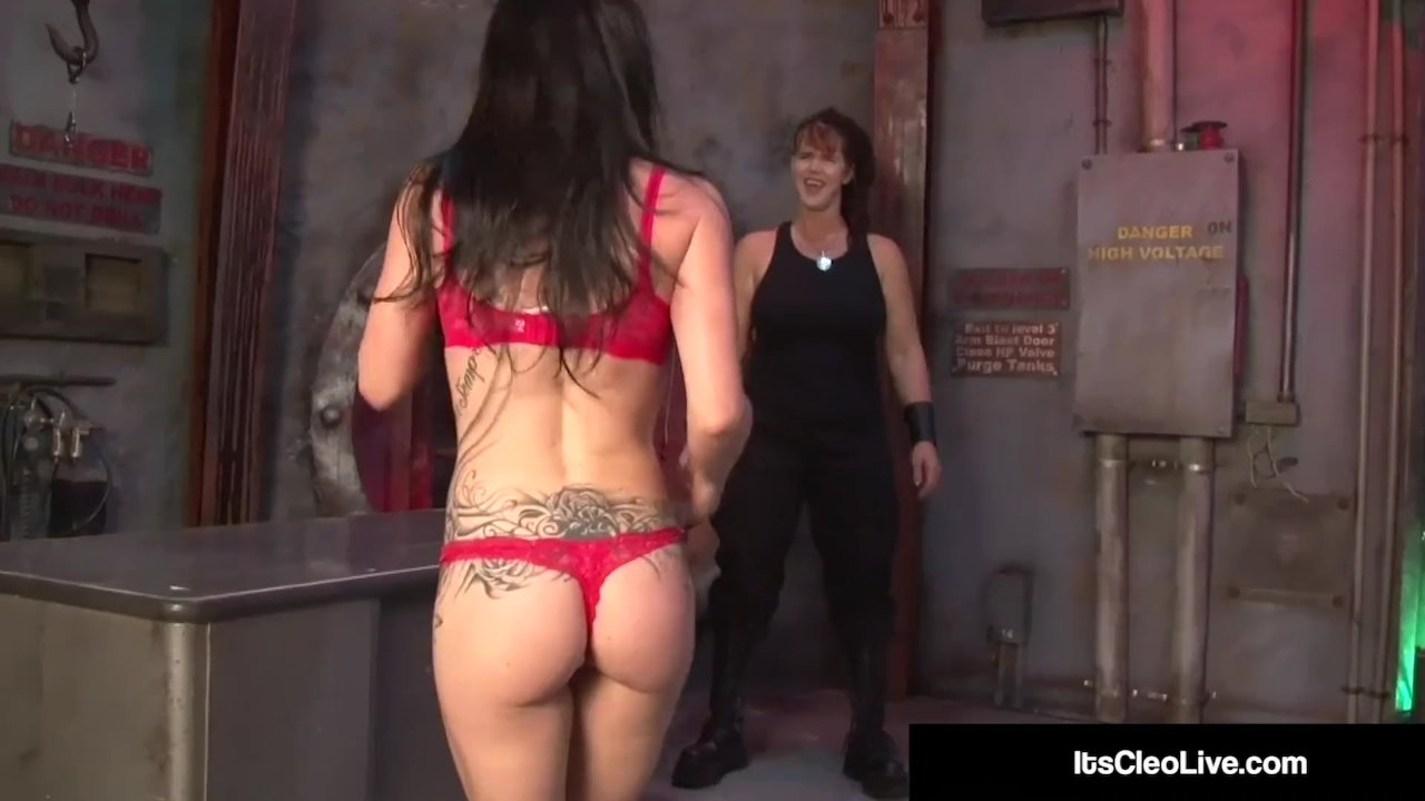 Secret Agent Its Cleo Abused Tickled By Saharra Huxly