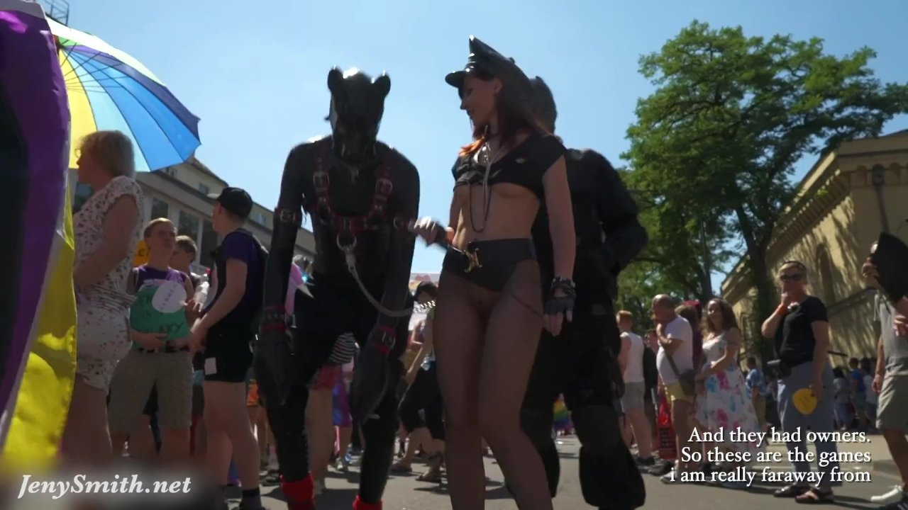 Sexy Jeny Smith at Christopher Street Day parade at Cologne. With Public Nu