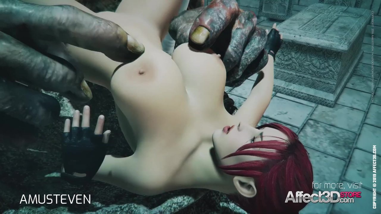 3d animation moster sex with a red head big tits babe - RedTube