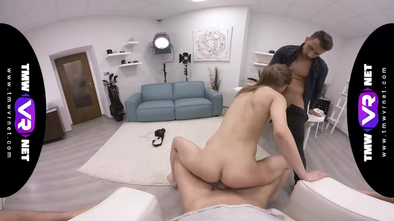TmwVRnet - Sarah Kay - Threesome ending of a crazy casting