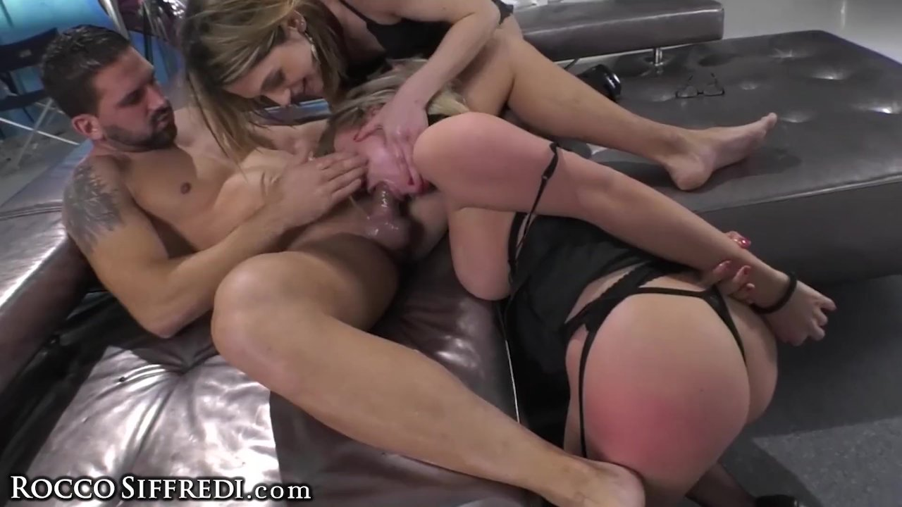Rocco Siffredi & Friend Rough DP Fucking 2 Sub Sluts