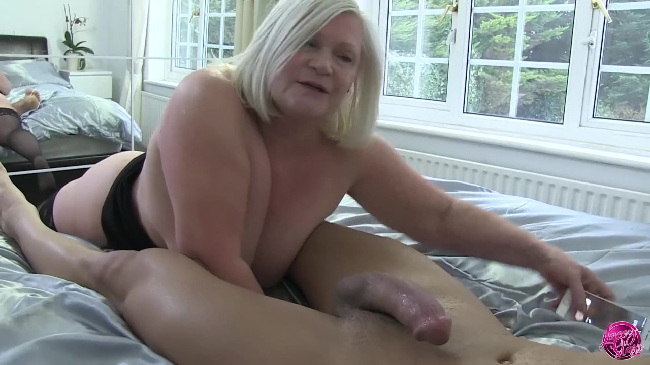 Taboo! Stepmom with big tits watching her stepson jerking off