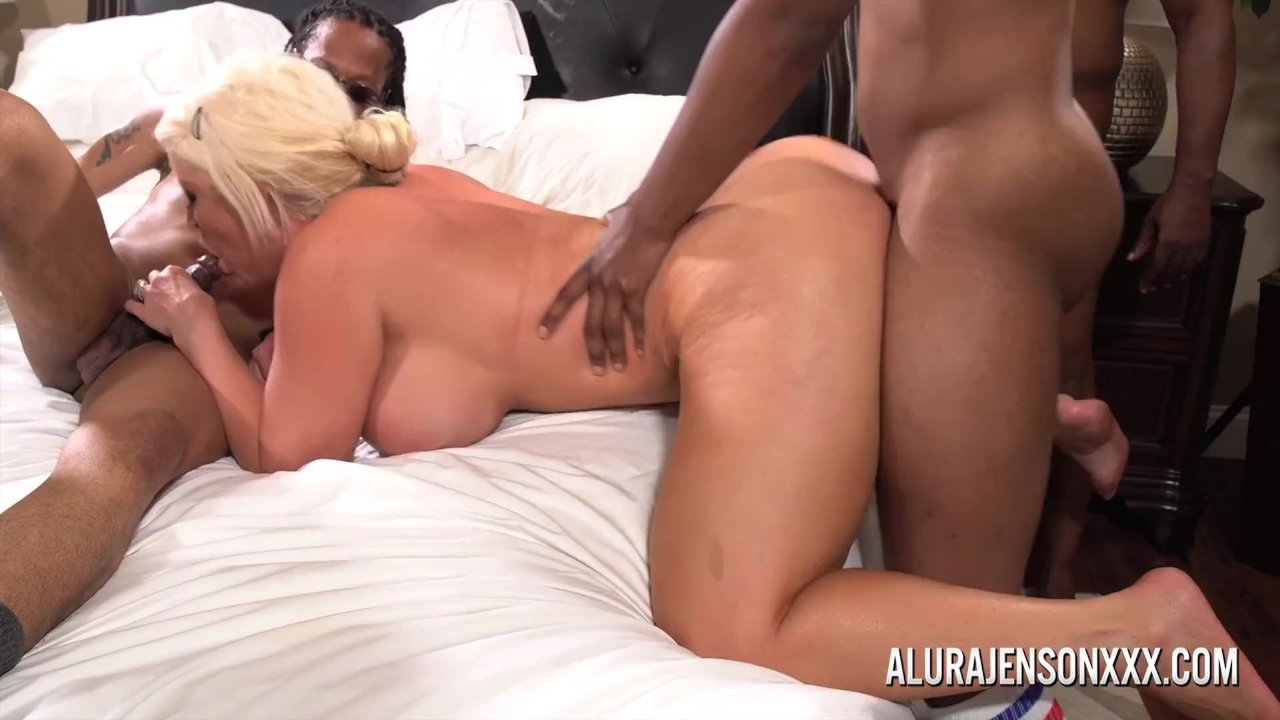 Alura Jenson Gangbanged By Six Black Cocks At Once Redtube