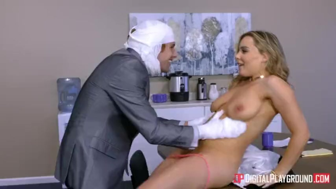 NYMPHO Petite blonde Cadence Lux pummeled by a big cock