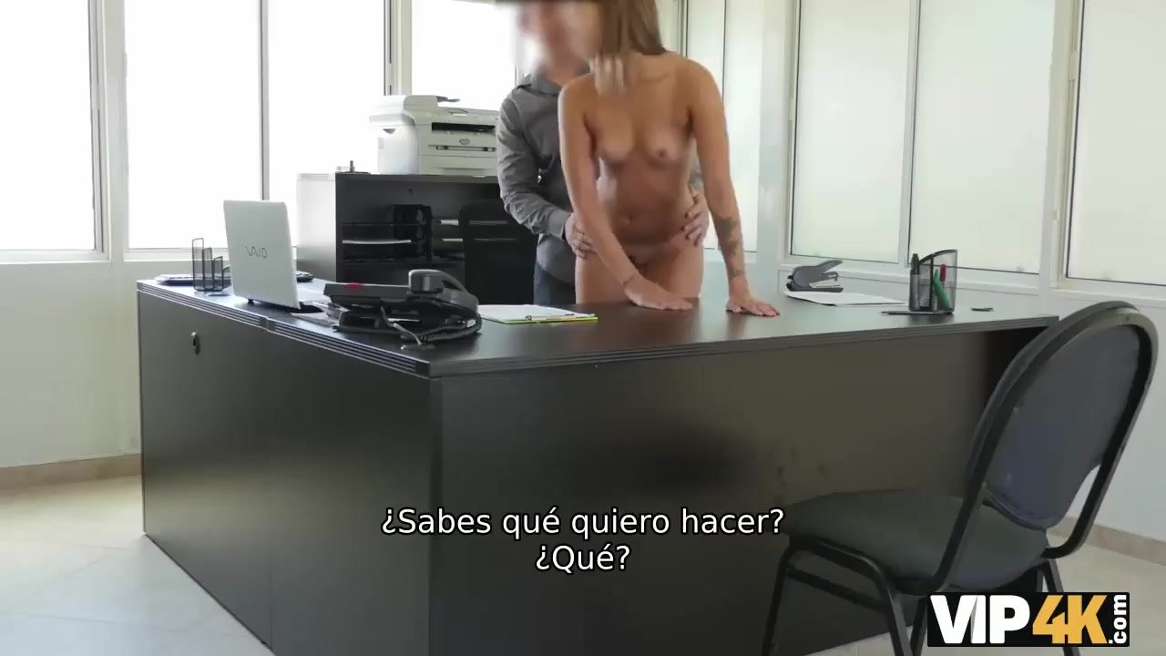 VIP4K. Agente de prestamos organiza casting de sexo para angelface en la me