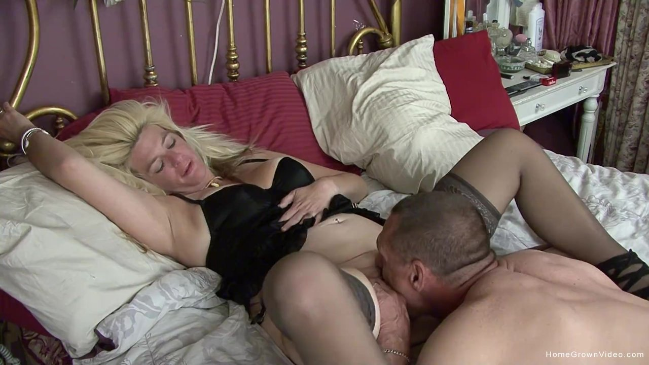 Horny mature couple make their first homemade video