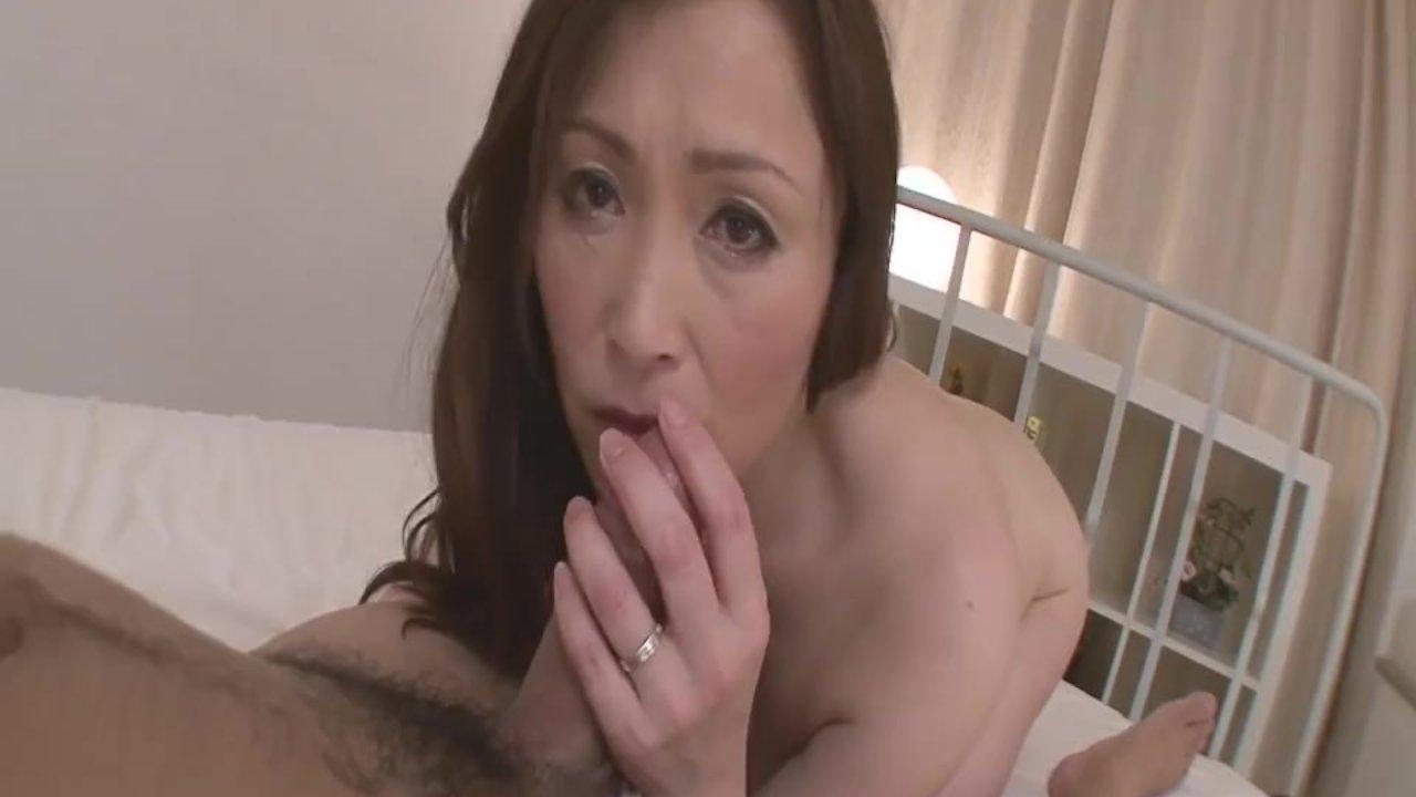 Horny MILF Babe Miyama Ranko Rides Cock On POV - More at Japanesemamas com