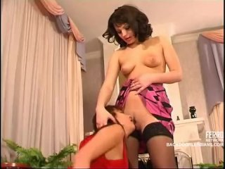 Severe Russian woman and her anal maid