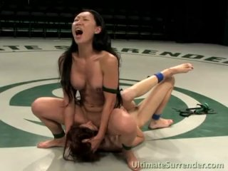 The Adult Video Experience Presents Asian hottie fucks her white wrestling partner