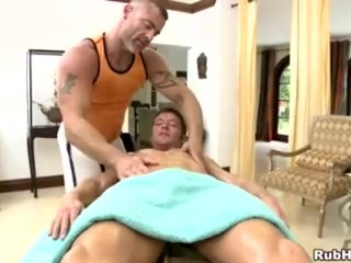 Athletic straight boys massage surprise