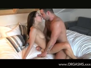 Fit brunette and her lover feeling it