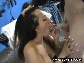 Busty mature amateur wife sucks and fucks