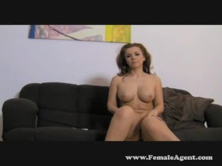 Lustful redhead orgasm hard for brunette agent