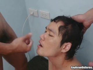 Twink in military uniform fucked in asshole